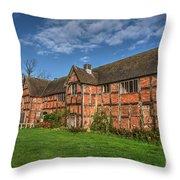 Middleton Hall Courtyard Centre Throw Pillow