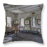 Middleton Place Rice Mill Interior Throw Pillow