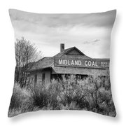 Midland Coal Mining Co. Throw Pillow