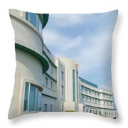 Midland Hotel In Morecambe Throw Pillow