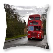 Midland Red Bus Throw Pillow