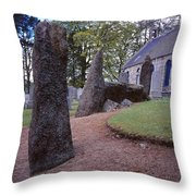 Midmar Stone Circle Throw Pillow