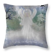 Midnight Angel Of Peace Throw Pillow