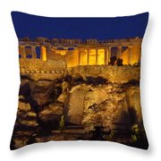 Midnight At The Acopolis Throw Pillow