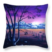 Midnight At The Border Throw Pillow