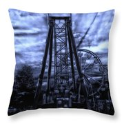 Midnight At The Carnival Throw Pillow