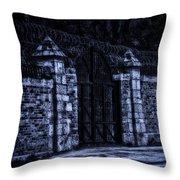 Midnight At The Prison Gates Throw Pillow