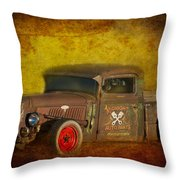 Midnight Auto Parts Throw Pillow
