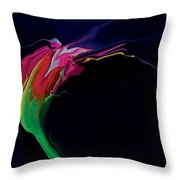 Midnight Bloom Throw Pillow