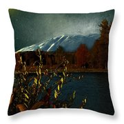 Midnight Blue In The Mountains Throw Pillow