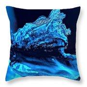 Midnight Blue Sea Shell Throw Pillow