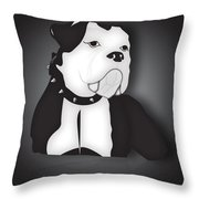 Midnight Bully Throw Pillow