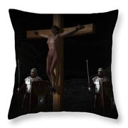 Midnight Crucifixion Throw Pillow
