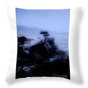 Midnight Cypress Throw Pillow