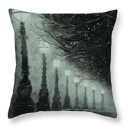 Midnight Dreary Throw Pillow by Carla Carson