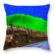 Midnight Express Throw Pillow