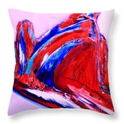 Midnight Fishing Throw Pillow