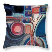 Midnight Geom Trees Throw Pillow
