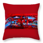 Midnight In The City Throw Pillow