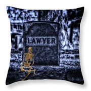 Midnight In The Graveyard With A Lawyer Throw Pillow
