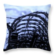 Midnight In The Prison Yard Throw Pillow