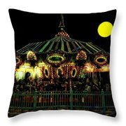 Midnight Midway Throw Pillow