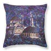 Midnight Mosque Throw Pillow