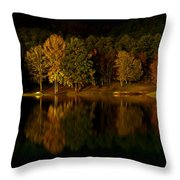 Midnight On The Lake Throw Pillow by Linda Unger
