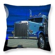 Midnight Peterbilt Throw Pillow
