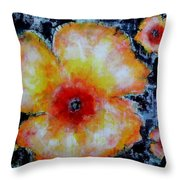 Midnight Poppies Throw Pillow