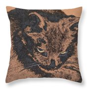Midnight Portrait Throw Pillow