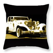 Midnight Rider 89 Throw Pillow