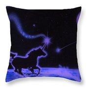Midnight Run Throw Pillow by Kevin Caudill