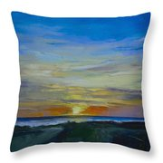 Midnight Sun Throw Pillow by Michael Creese