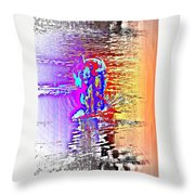 Come Out And Swim The Midnight Swim With Us  Throw Pillow by Hilde Widerberg