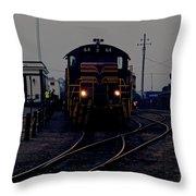 Midnight Train Throw Pillow