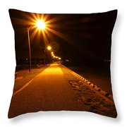 Midnight Walk Throw Pillow by Olivier Le Queinec