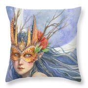 Midnight Warrior Throw Pillow by Sara Burrier