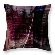 Midnights Grapes  Throw Pillow