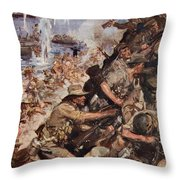 Midst Shot And Shell We Made The Narrow Throw Pillow