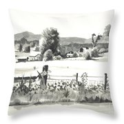 Midsummer View Out Route Jj   No I101 Throw Pillow