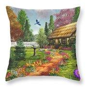 Midsummer's Joy Throw Pillow