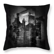 Midtown Black And White Throw Pillow