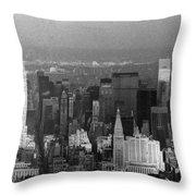 Midtown Manhattan 1980s Throw Pillow