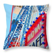 Midway Cafe Throw Pillow