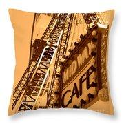 Midway Cafe Sepia Throw Pillow