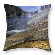 Midway Geyser Runoff Throw Pillow