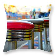Midway Line Up Throw Pillow