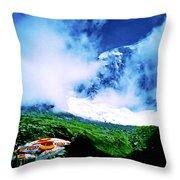 Le Milieu De Mont Blanc   Throw Pillow