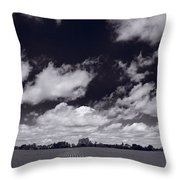 Midwest Corn Field Bw Throw Pillow